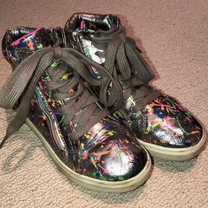 Steve Madden splatter paint high top sneakers 1